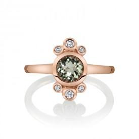 MARS Fashion Ring, 0.13 Dia. 0.77 Green Am.