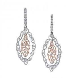 MARS Diamond Drop Earrings 1.24 ctw