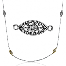18K GOLD WHITE CH100 NECKLACE