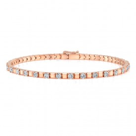 Alternating Diamond Tennis Bracelet
