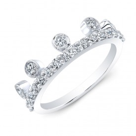18k Diamond Stackable Tiara Band
