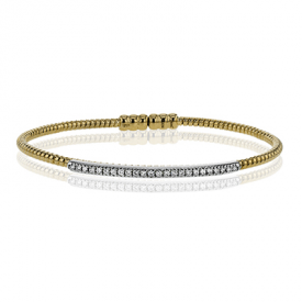 18K TWO TONE GOLD LB2151-Y BANGLE
