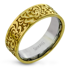14K TWO TONE GOLD LG175-Y MEN RING