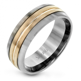 14K TWO-TONE GOLD LG194 MEN RING