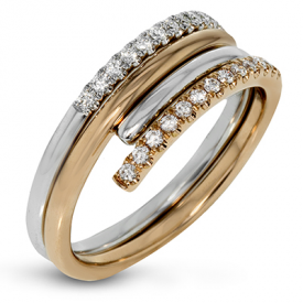 18K TWO TONE GOLD LR1112 RIGHT HAND RING