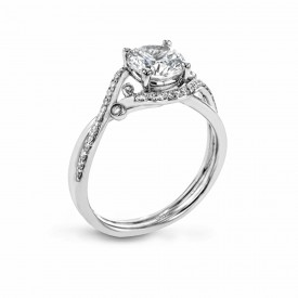 18K WHITE GOLD, WITH WHITE DIAMONDS. LR2113 - ENGAGEMENT RING