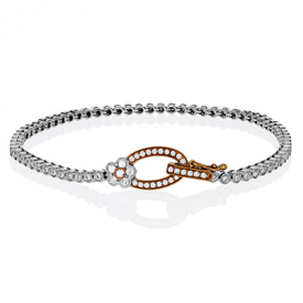 18K GOLD WHITE & ROSE MB1581 BRACELET