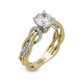 18K TWO TONE GOLD MR2514 ENGAGEMENT RING