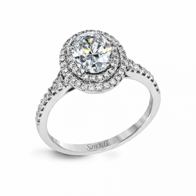 18K GOLD WHITE MR2884 ENGAGEMENT RING