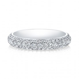 18k White Trio Micropave Eternity Band