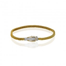 18k white and yellow gold Bracelet .42D