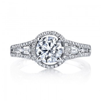 MARS Diamond Engagement Ring 0.31 Ct Rd, 0.16 Ct Bg.
