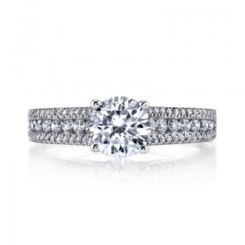 MARS 25145 Diamond Engagement Ring 0.41 Ctw.