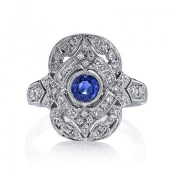 MARS Diamond Engagement Ring 0.37 Ct Rd, 0.15 Ct Pr.