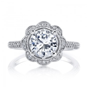 MARS Diamond Engagement Ring 0.47 Ctw.