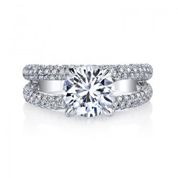 MARS 25277 Diamond Engagement Ring 1.16 Ctw.