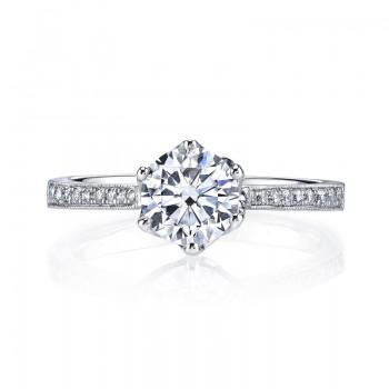MARS 25283 Diamond Engagement Ring 0.16 Ctw.