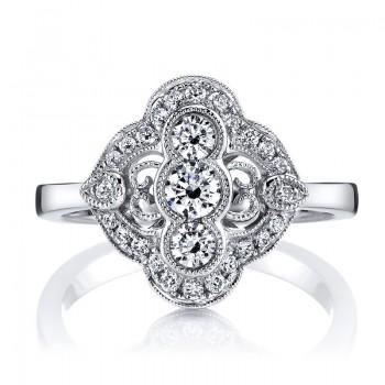 MARS Diamond Engagement Ring 0.56 Ctw.