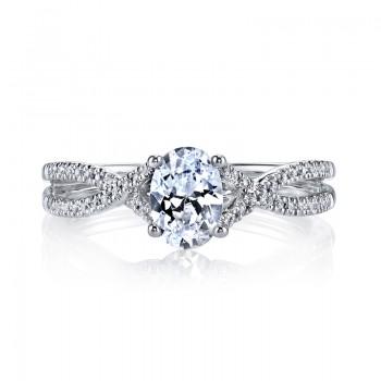 MARS 25475 Diamond Engagement Ring 0.15 Ctw.
