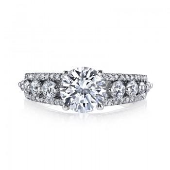 MARS 25526 Diamond Engagement Ring 0.71 Ctw.