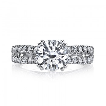 MARS 25564 Diamond Engagement Ring 0.87 Ctw.