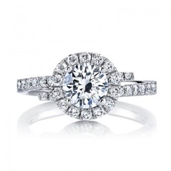 MARS 25648 Diamond Engagement Ring 0.53 Ctw.