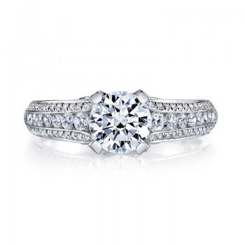MARS 25735 Diamond Engagement Ring 0.59 Ctw.