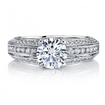 MARS 25738 Diamond Engagement Ring, 0.60 Ctw.