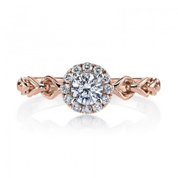 MARS 25823 Diamond Engagement Ring 0.15 Ctw.
