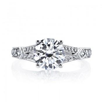 MARS Diamond Engagement Ring 0.13 Ct Pr, 0.28 Ct Rd.