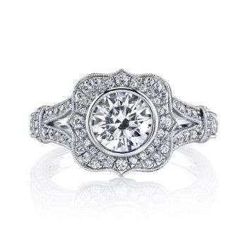 MARS 25938 Diamond Engagement Ring 0.46 Ct Dia, 0.10 Ct Saph. 25939