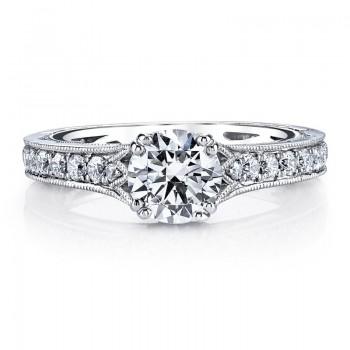 MARS 26009 Diamond Engagement Ring 0.51 Ctw.