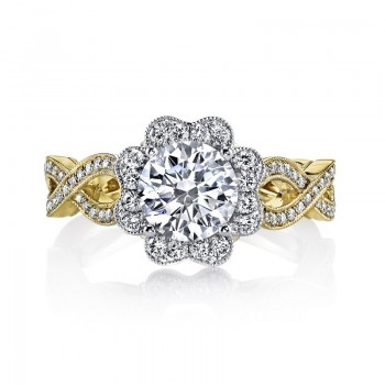MARS 26020TT Diamond Engagement Ring, 0.56 Ctw.