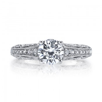 MARS 26031 Diamond Engagement Ring 0.19 Ctw.