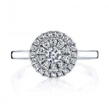 MARS 26126 Diamond Engagement Ring, 0.59 Ctw.