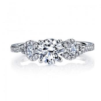 MARS 26132 Diamond Engagement Ring, 0.63 Ctw.