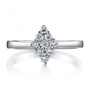 MARS 26144 Diamond Engagement Ring, 0.32 Ctw.