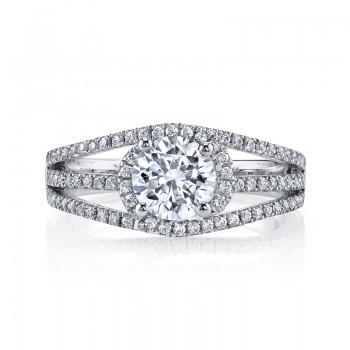 MARS 26204 Diamond Engagement Ring 0.44 Ctw.