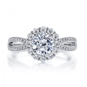 Diamond Engagement Ring 0.77 ct rd 0.13 ct bg