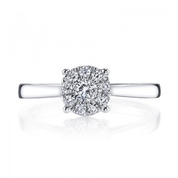 MARS 26280 Diamond Engagement Ring, 0.30 Ctw.