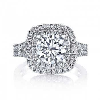 MARS Diamond Engagement Ring 0.88 Ctw.