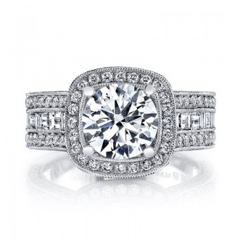 MARS 26508 Diamond Engagement Ring 0.88 Ct Rd, 0.71 Ct Bg.