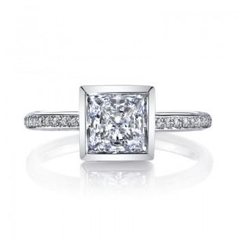 MARS 26707D Diamond Engagement Ring 0.12 Ctw.