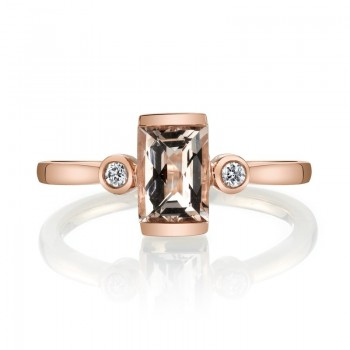 MARS Fashion Ring, 0.06 Dia., 0.72 Morganite