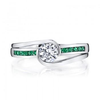 MARS 28101 Diamond Engagement Ring 0.20 Ctw.