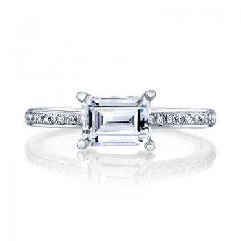 MARS Diamond Engagement Ring, 0.11 Ctw.