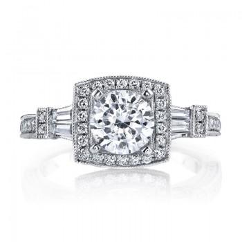Diamond Engagement Ring 0.64 ct rd 0.25ct bg