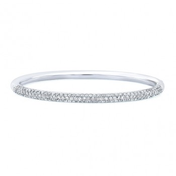 18k Micropavé Diamond Bangle