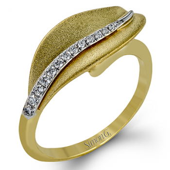 18K TWO TONE GOLD DR246-Y RIGHT HAND RING