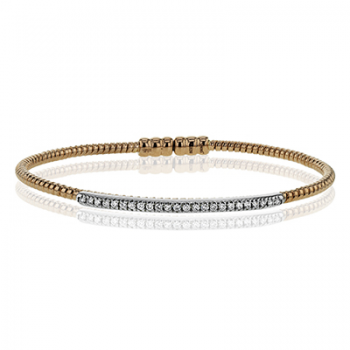 18K TWO TONE GOLD LB2151-R BANGLE